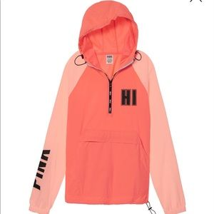 Vs pink QUARTER-ZIP ANORAK